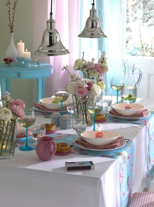 Frühlingsdeko im Glas - Tischgestaltung - Tisch selber machen