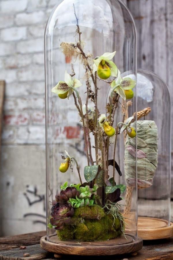 Frühlingsdeko im Glas - eine kleine Landschaft