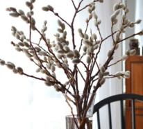 Frühlingsdeko mit Weidenkätzchen, die kinderleicht zu machen ist