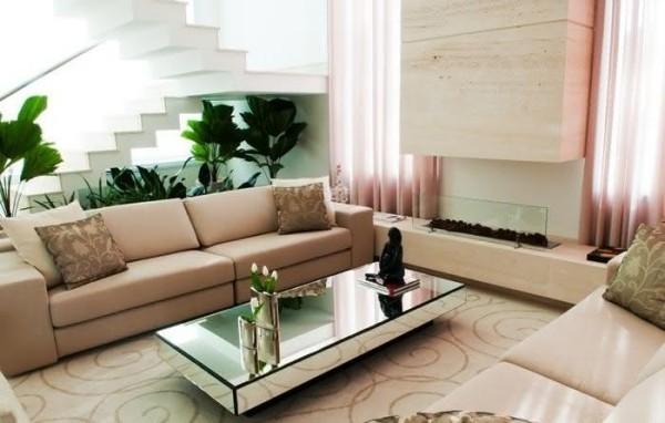Ideen für die Inneneinrichtung Wohnzimmertisch deko