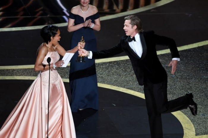 Oscars 2020 Publikumsliebling Brad Pitt Oscar-Preis als bester Nebendarsteller