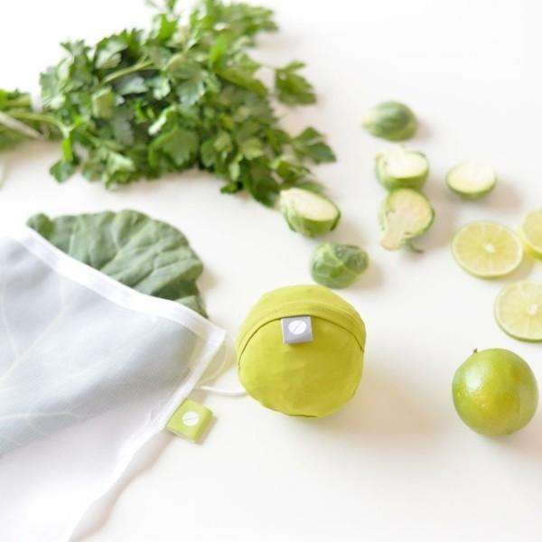 Plastikfrei einkaufen Beutel Netz Obst Lebensmittel Nachhaltigkeit