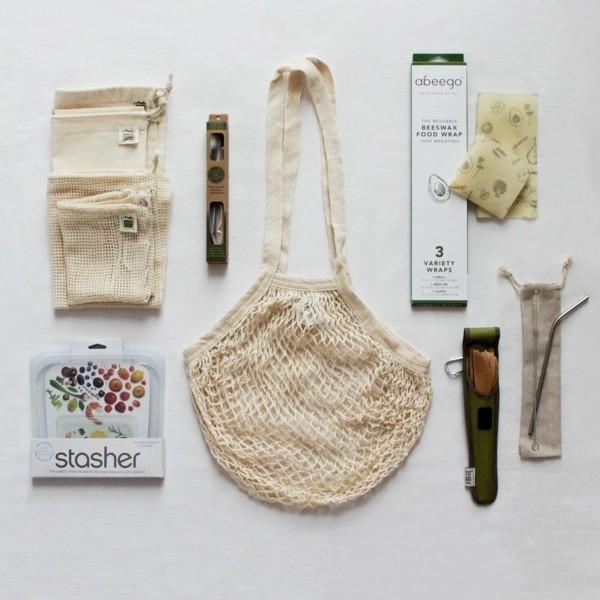 Plastikfrei einkaufen wiederverwendbare Beutel