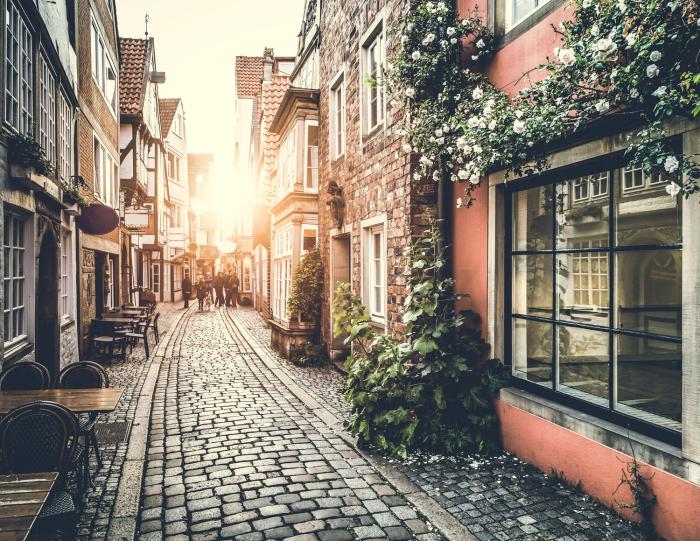 Reiseziele für Romantiker Rom die ewige Stadt eine romantische Straßen Morgenkaffee trinken