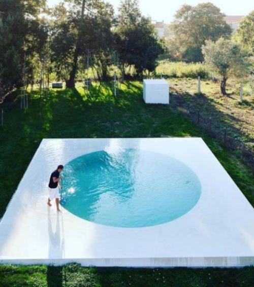 Runde Gartenpools kleines rundes Schwimm-und Planschbecken im Hinterhof aufstellbar