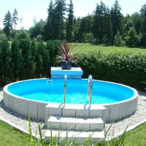 Runde Gartenpools perfektes Modell Treppe eine gute Poolabdeckung ist erforderlich