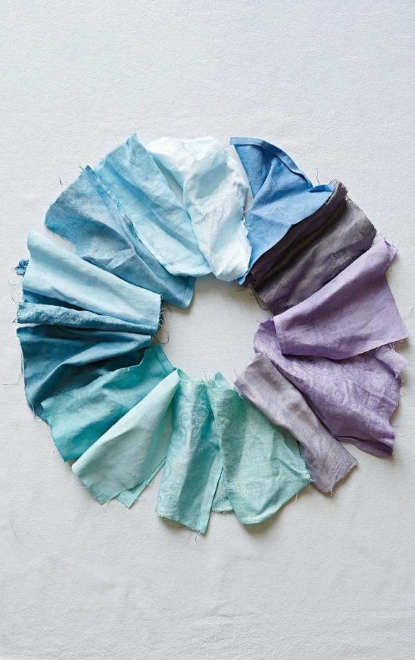 Stoff färben Textilien färben Kleidung färben Stoffproben Nesselstoff