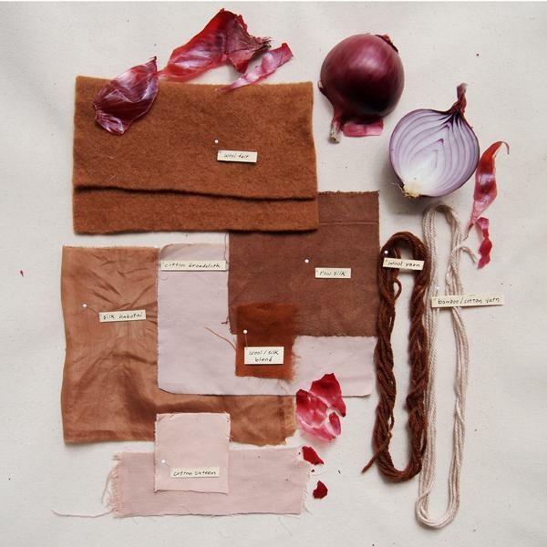 Stoff färben Textilien färben Kleidung färben Zwiebelnschale
