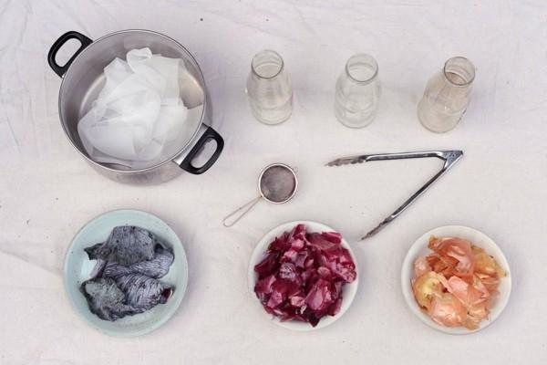 Stoff färben Textilien färben Kleidung färben nötige Zutaten