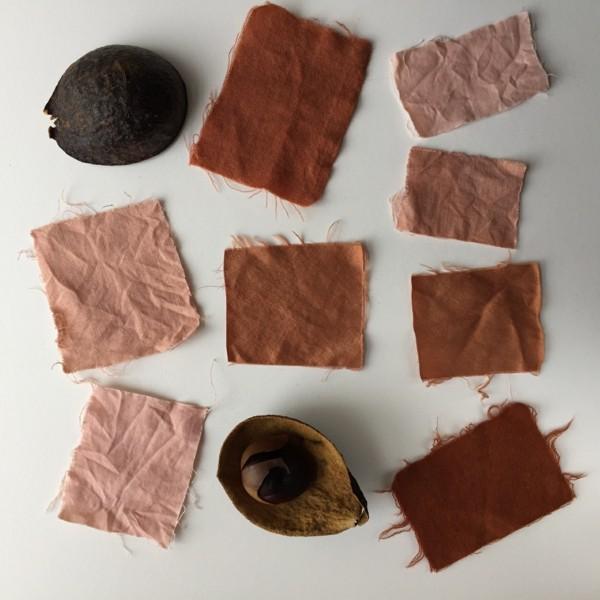 Stoff färben Textilien färben Kleidung färben natürlicher Weise braune Farbe erreichen