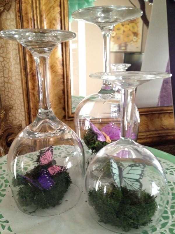 Winglas DIY Ideen Frühlingsdeko im Glas