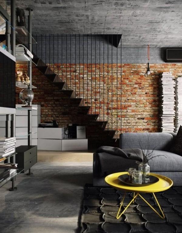 Wohnzimmertisch deko Loftgestaltung Ideen