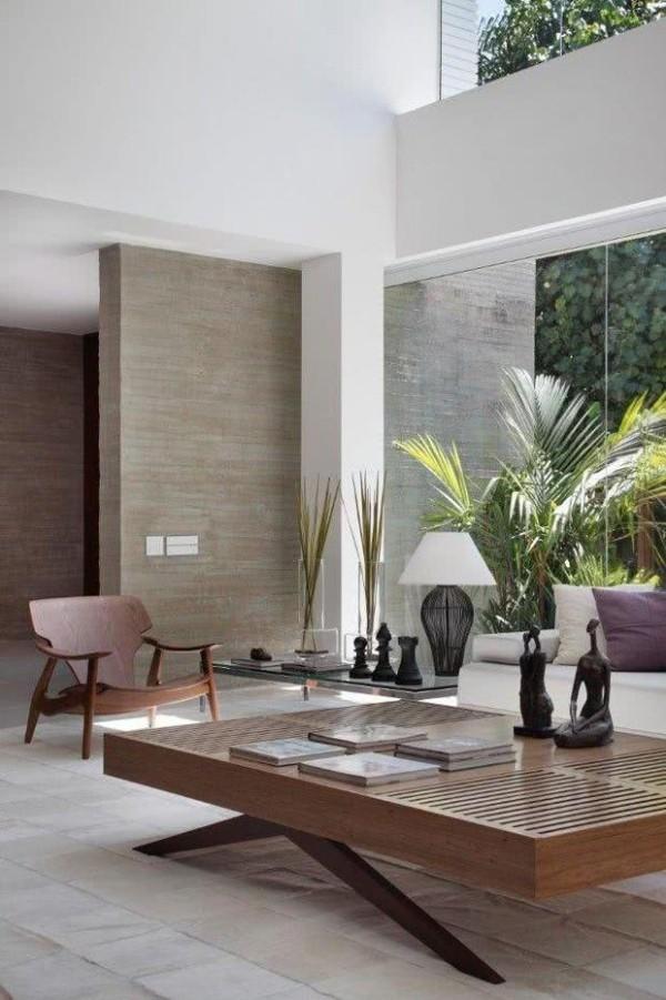 Wohnzimmertisch deko exotisches zeitgenössisches Design