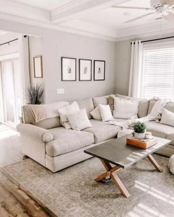 Zeitgemäße Raumgestaltung Wohnzimmer in frischen Farben gestalten beste Idee