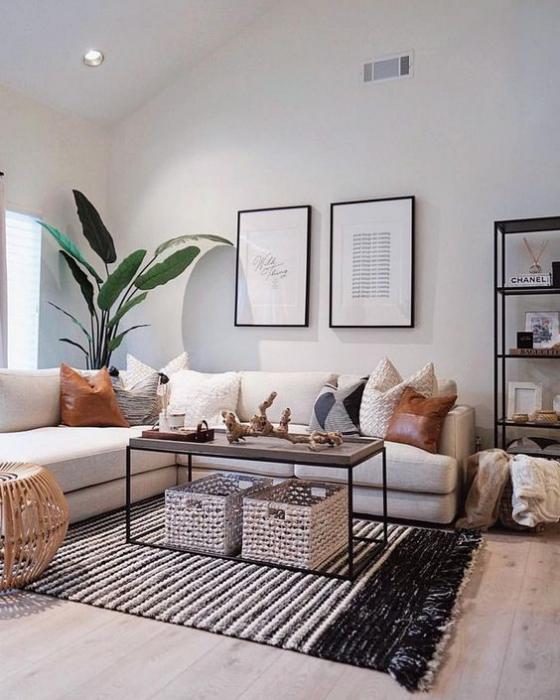 Zeitgemäße Raumgestaltung modernes stilvolles Wohnzimmer