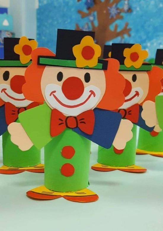 basteln mit klorollen zum karneval
