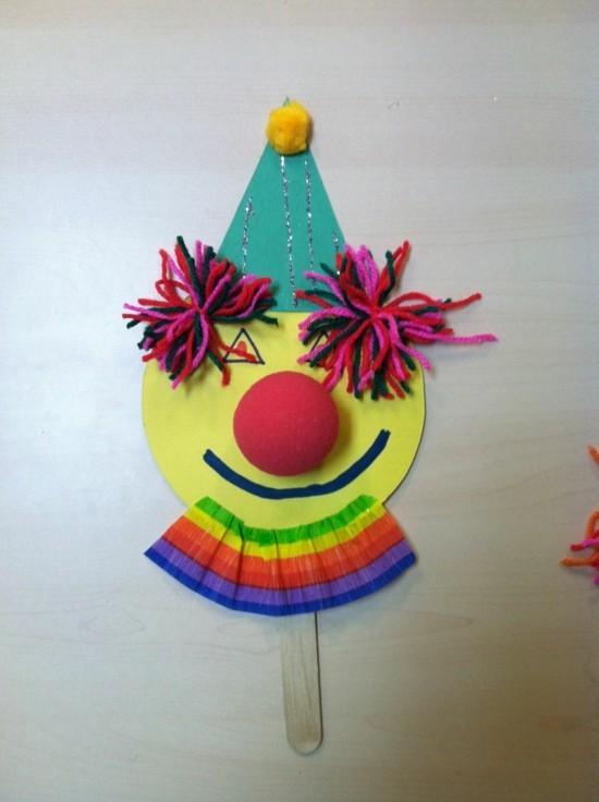 clown deko basteln mit kindern fasching