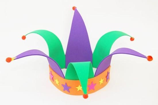 einfache clown krone basteln mit kindern