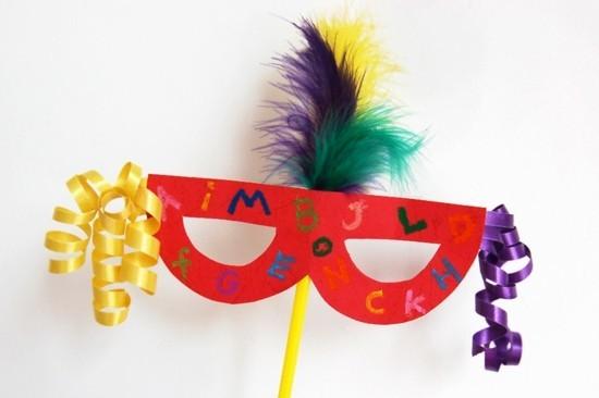 einfache domino basteln mit kindern zum karneval