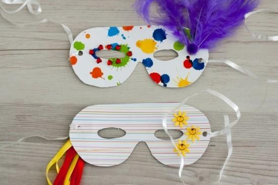 einfache masken basteln mit kindern zu fasching