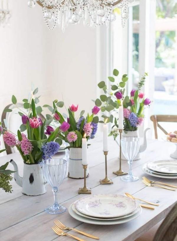 elegante Tischgestaltung - DIY Deko Frühlingsdeko im Glas