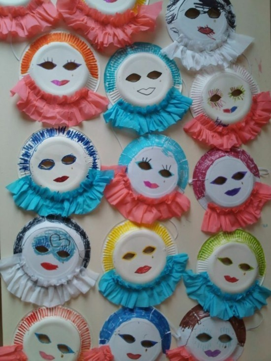karnevalsmasken basteln mit kindern