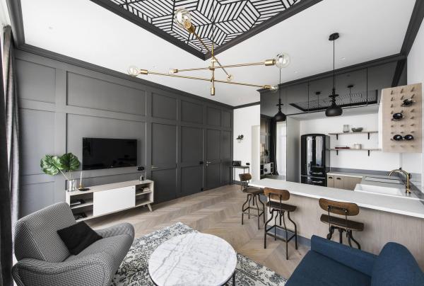kleine Wohnung Altbauwohnung einrichten modernes Design