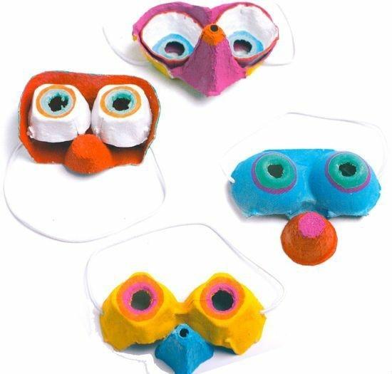 lustige masken zum karneval basteln mit kindern