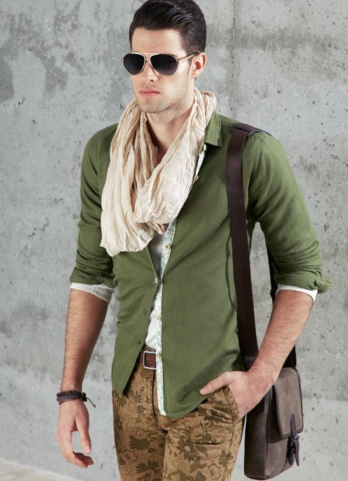 männermode 2020 aktuelle kausale mode soldatengrün