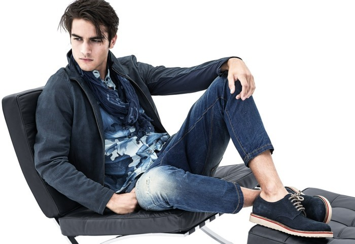 männermode aktuelle farben denim armani jeans