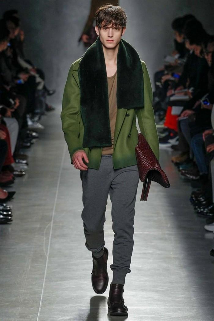 männermode aktuelle trends farben 2020 soldatengrün
