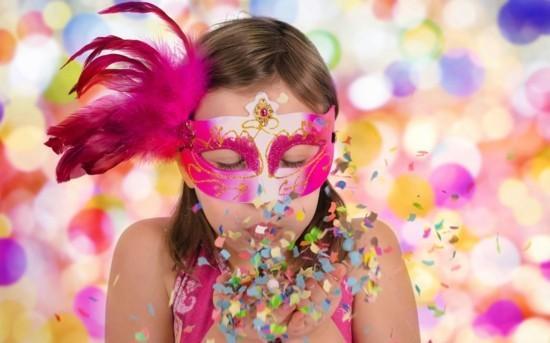 maske konfetti basteln mit kindern zu fasching