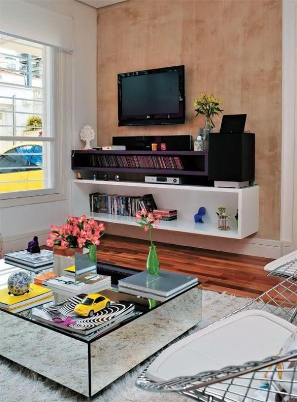 moderne Wohnzimmereinrichtung Wohnzimmertisch deko