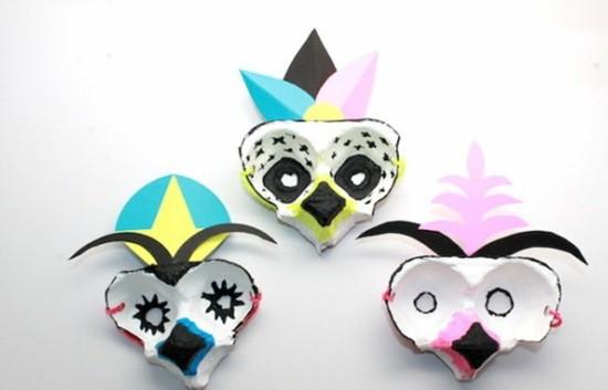 originelle karnevalsmasken basteln mit kindern