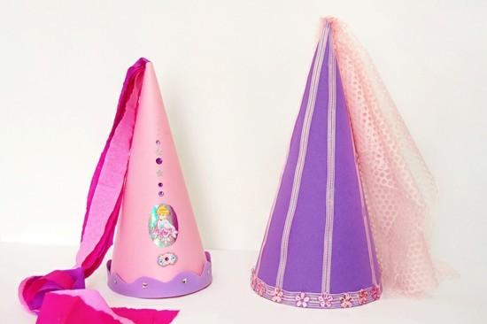 prinzessin hut aus papier basteln mit kindern zu fasching