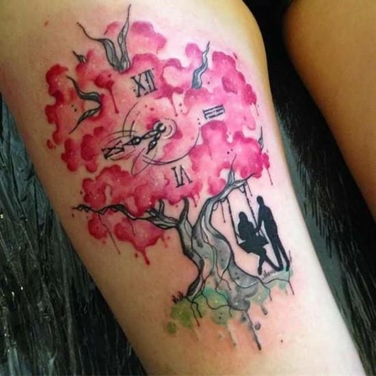 sakura kirschblüten tattoo kirschbaum