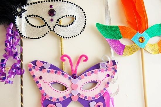 schöne masken basteln mit kindern zu fasching