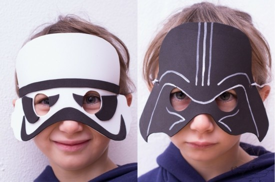 star wars masken basteln mit kindern zum karneval