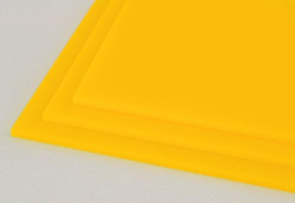 Acryglassplatten - tolle gelbe Platten