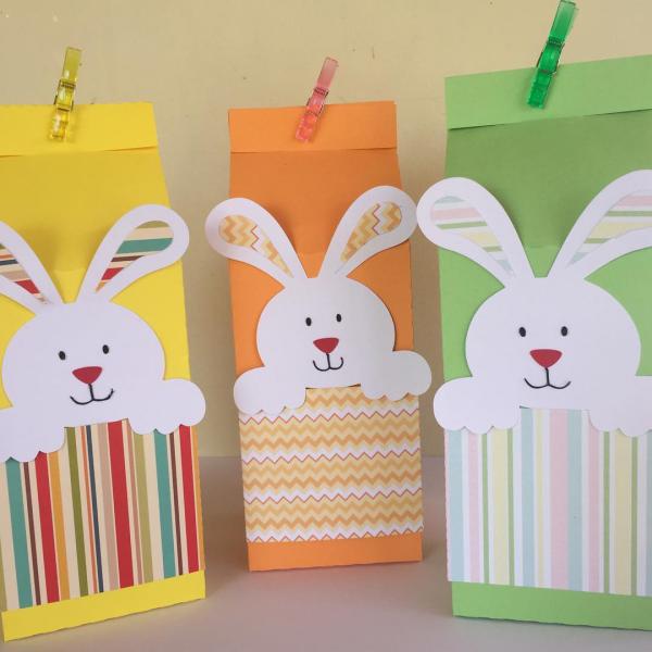 Basteln mit Kindern - Verpackunge für Ostern
