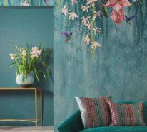 Deko Trend 2020: attraktive Blumentapeten sind auf Vormarsch