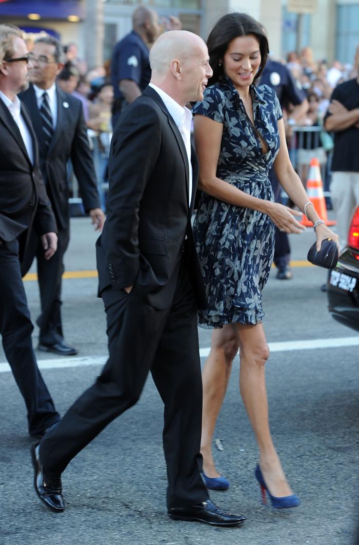 Bruce Willis Hollywood Star feiert 65. Geburtstag glücklich mit seiner zweiten Ehefrau Emma Heming