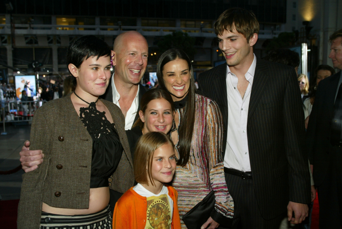 Bruce Willis Hollywood Star feiert 65. Geburtstag mit Demi Moore drei Töchter Ashton Kutcher eine Patch-Work-Familie