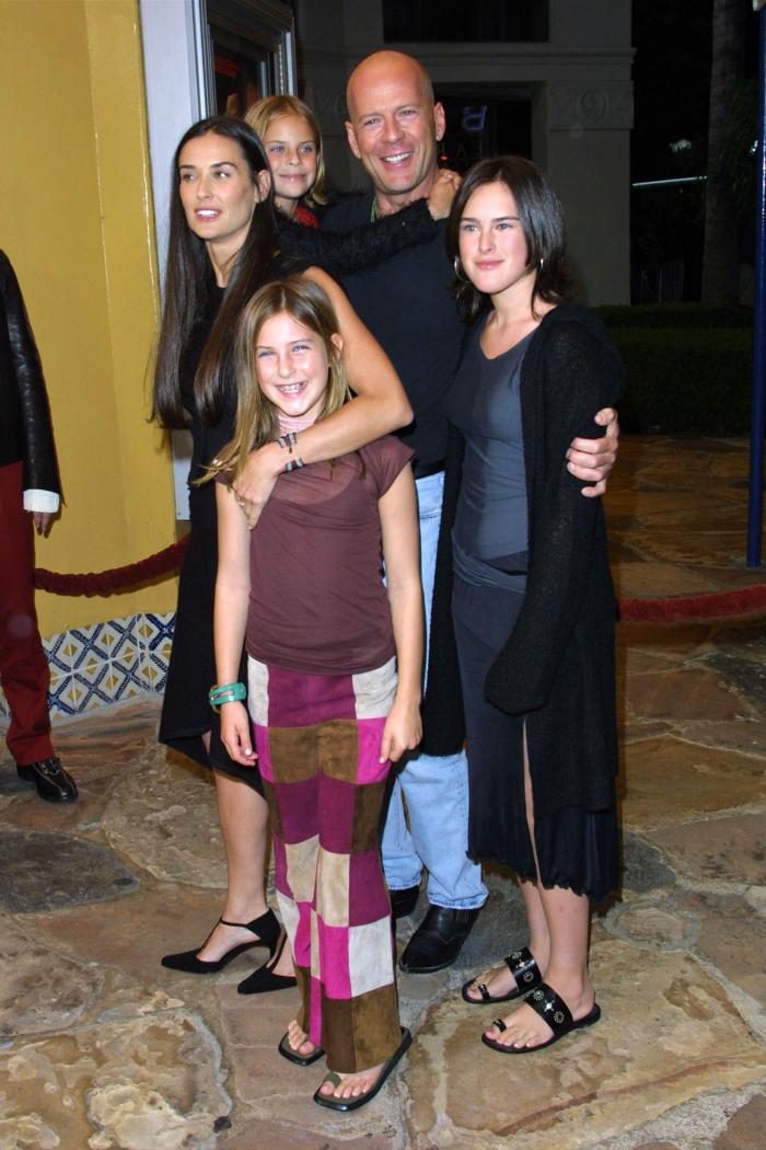 Bruce Willis Hollywood Star feiert 65. Geburtstag mit Demi Moore drei Töchter
