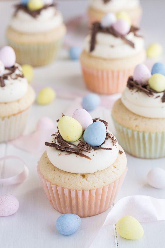 Cup Cakes Ideen - Oster-Bastelideen
