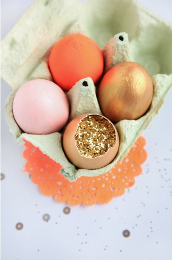 Eier ausblasen Deko Ideen Ostereier