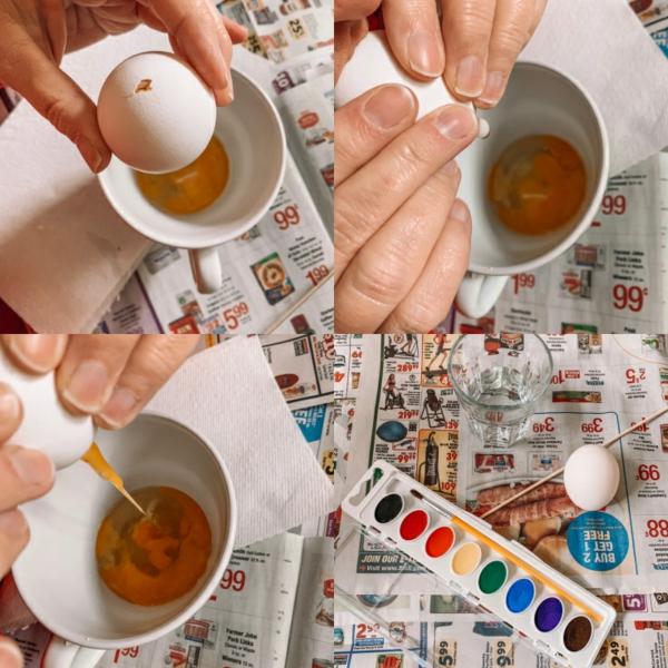 Eier ausblasen Schritt für Schritt Anleitung
