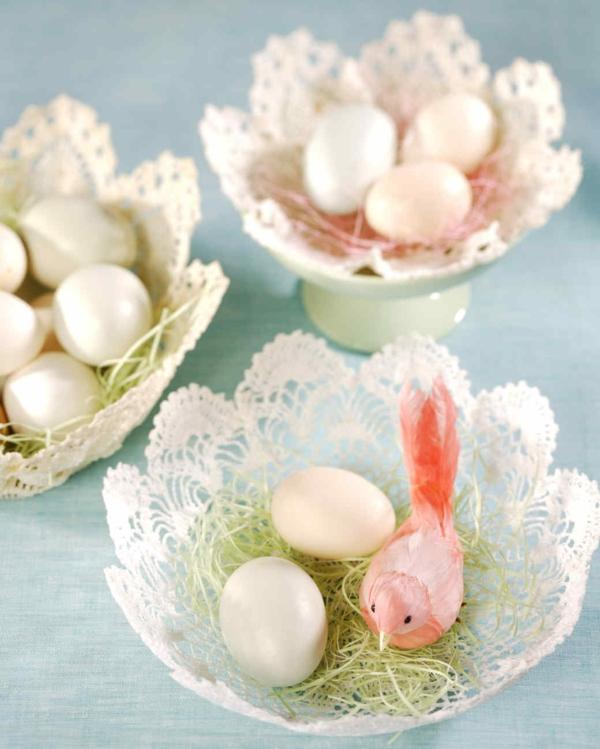 Eier ausblasen Technik Anleitung DIY Ideen