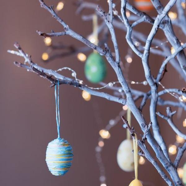Eier ausblasen Technik Osterbaum verzieren Anleitung