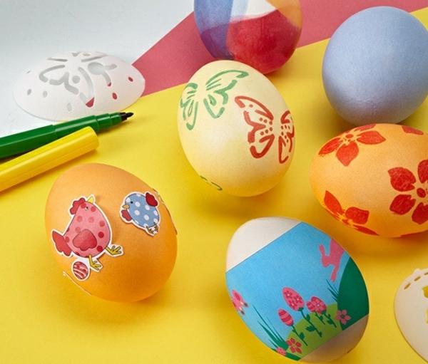 Eier ausblasen und bemalen Schritt für Schritt Anleitung